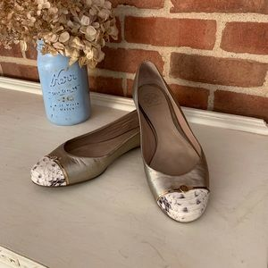 Tory Burch Pacey Snake Embossed Ballet Flat, 8.5